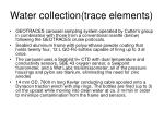 water collection trace elements