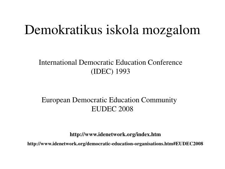 Demokratikus iskola mozgalom
