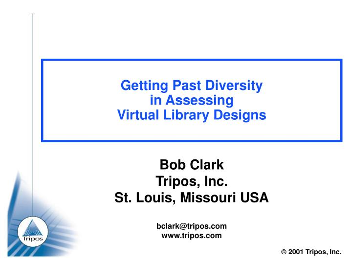 Getting past diversity in assessing virtual library designs