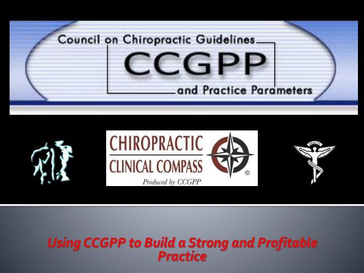 using ccgpp to build a strong and profitable practice n.