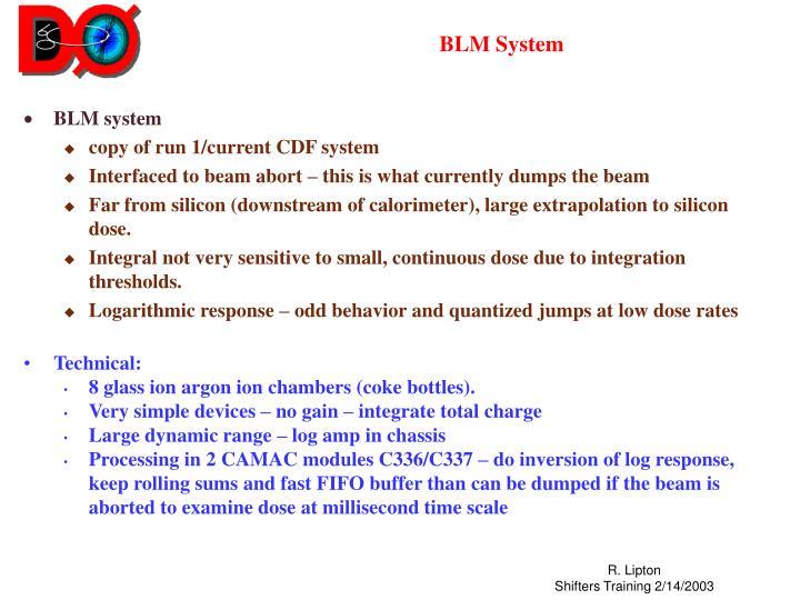 Blm system
