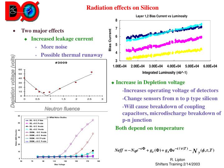 Radiation effects on silicon