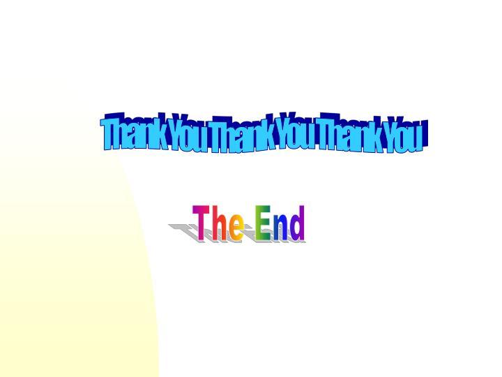 Thank You Thank You Thank You