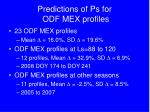 predictions of ps for odf mex profiles1