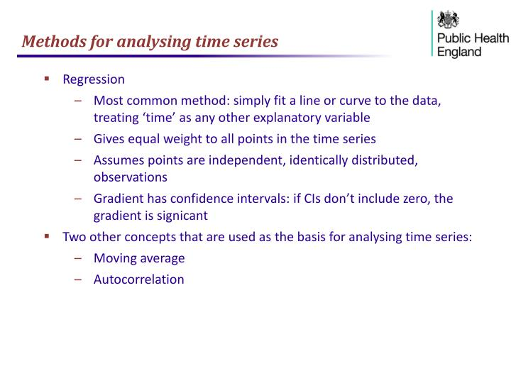 Methods for analysing time series