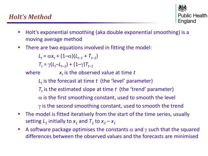 Holt's Method