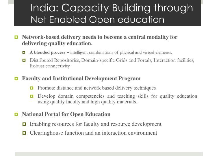 India: Capacity Building through