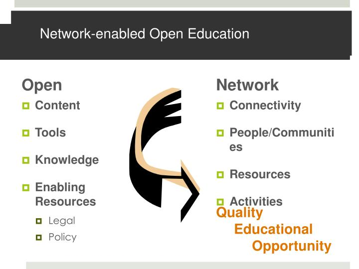Network enabled open education
