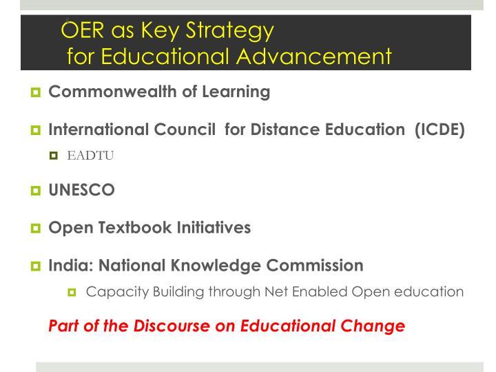 OER as Key Strategy