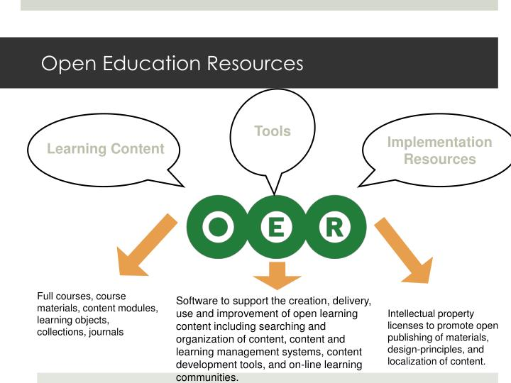 Open Education Resources