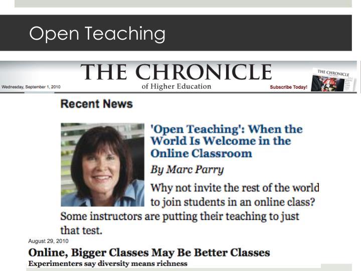 Open Teaching