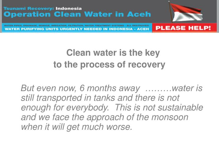 Clean water is the key