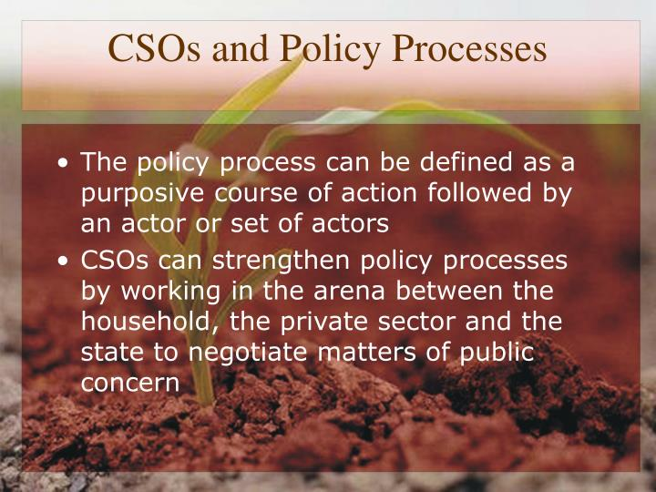 CSOs and Policy Processes