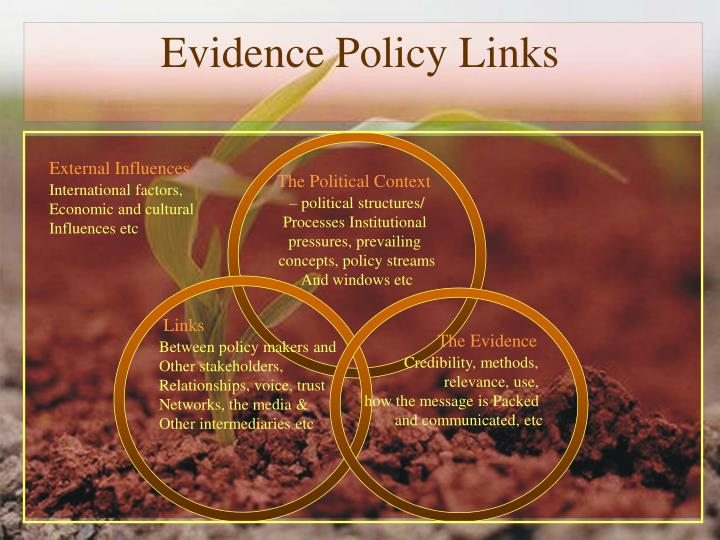 Evidence Policy Links
