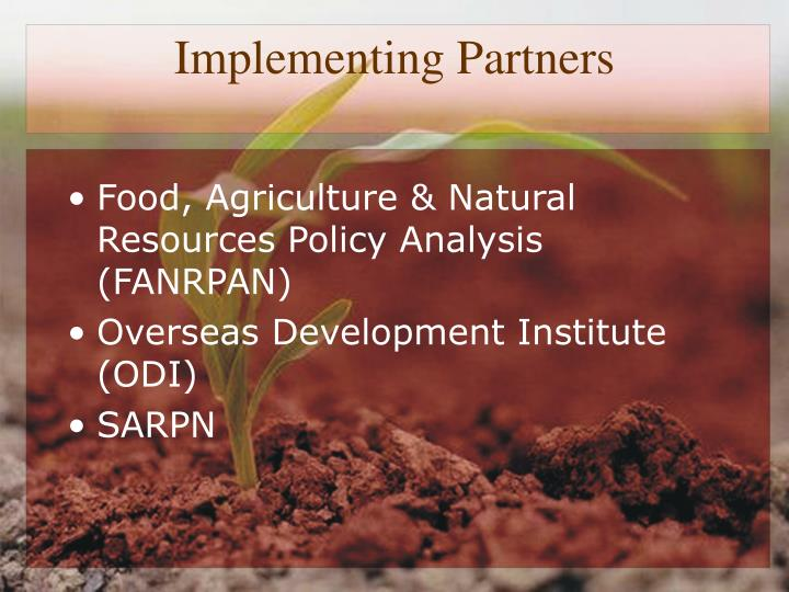 Implementing Partners