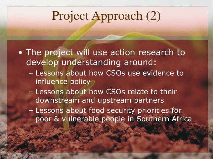 Project Approach (2)