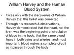 william harvey and the human blood system