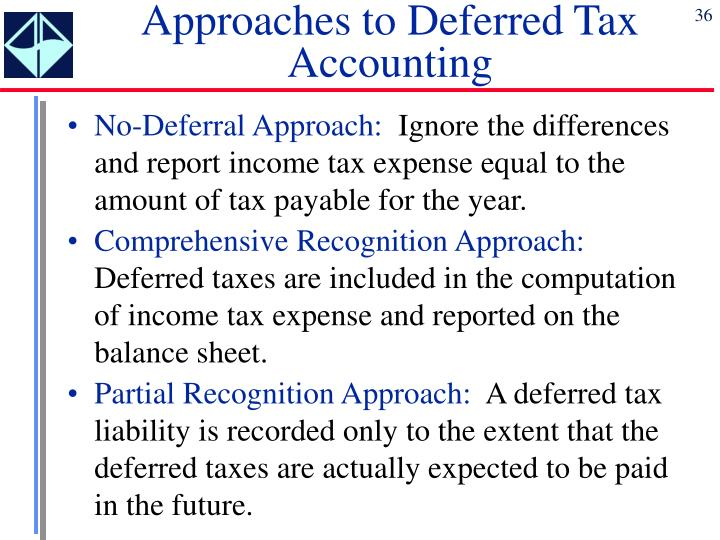 Approaches to Deferred Tax Accounting