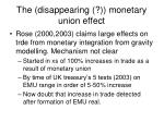 the disappearing monetary union effect
