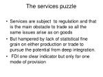 the services puzzle