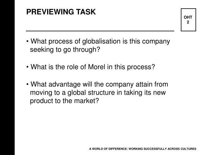 PREVIEWING TASK