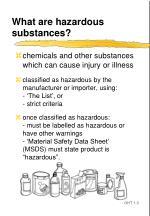 what are hazardous substances