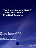 tax reporting of a madoff theft loss some practical aspects