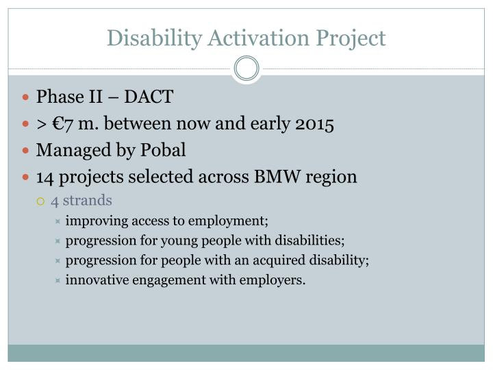 Disability Activation Project