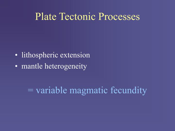 Plate Tectonic Processes