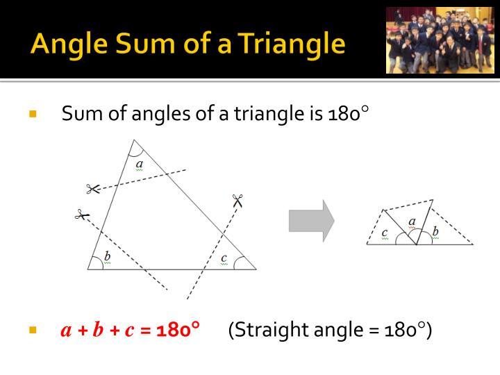 Angle Sum of a Triangle