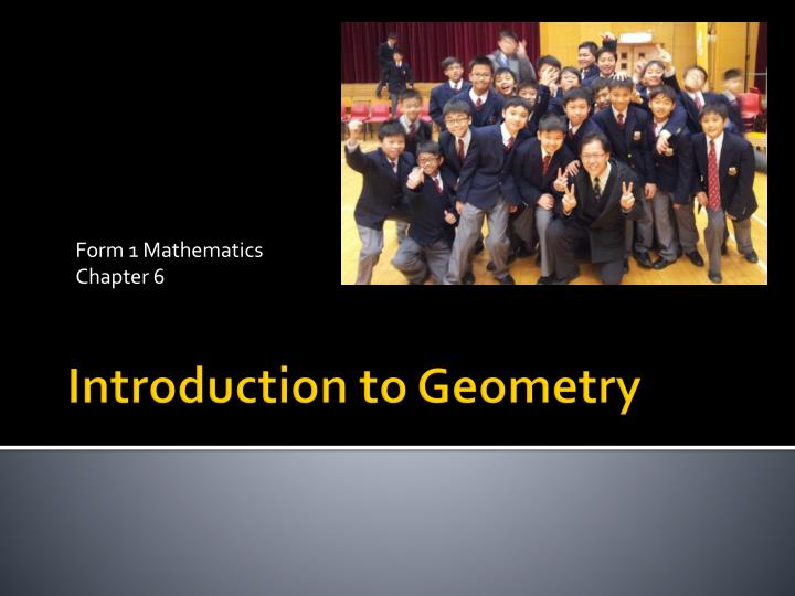 Form 1 mathematics chapter 6
