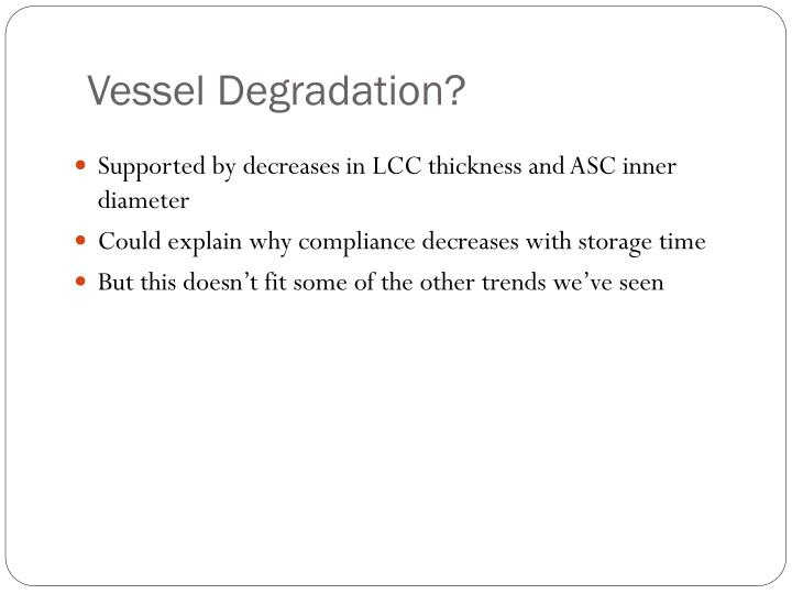 Vessel Degradation?