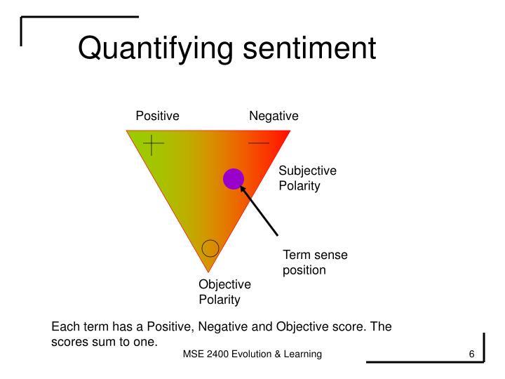 Quantifying sentiment