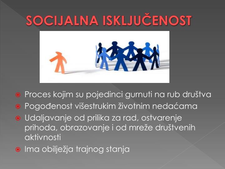 SOCIJALNA ISKLJUČENOST