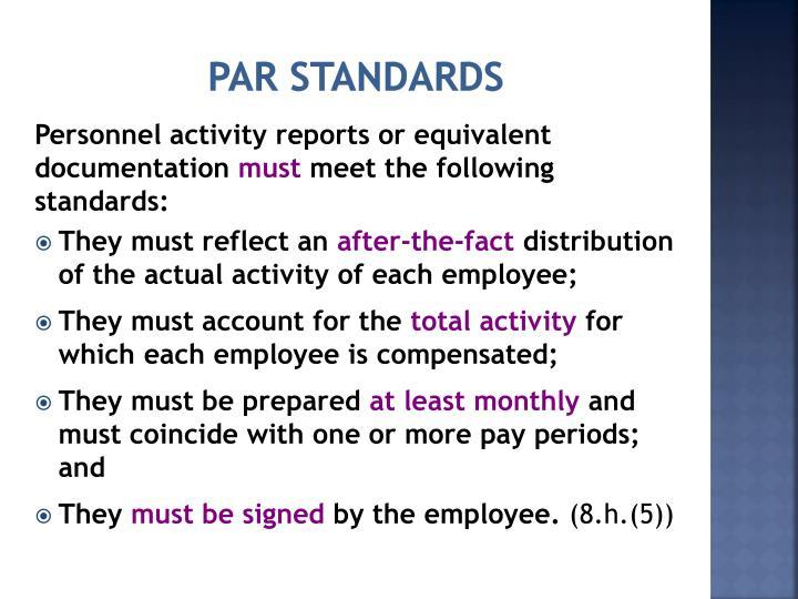 PAR Standards