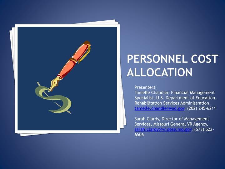 Personnel cost allocation
