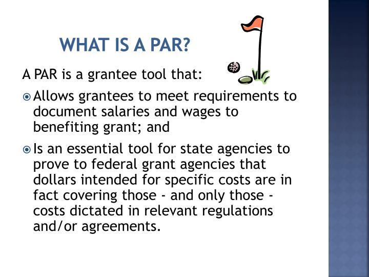 What is a PAR?