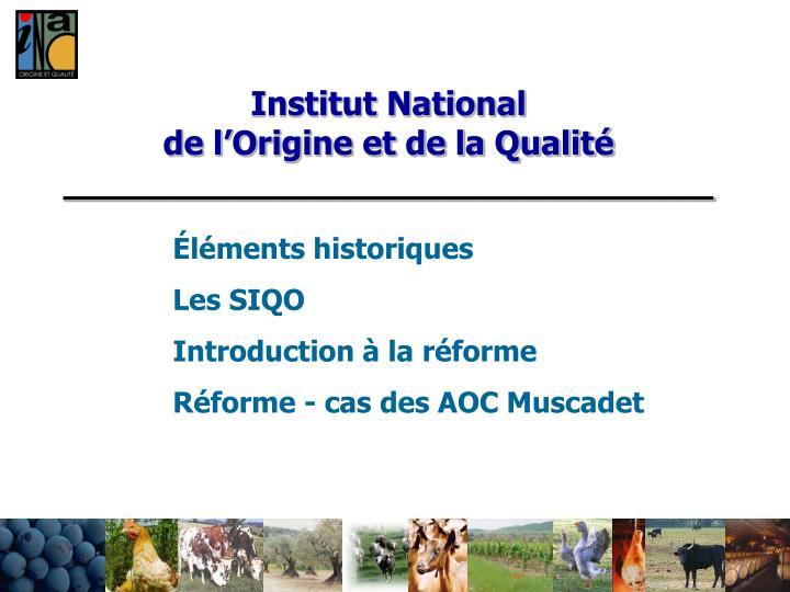 institut national de l origine et de la qualit
