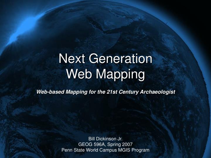 Next generation web mapping