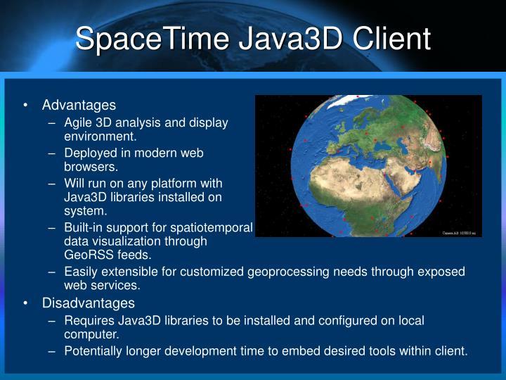 SpaceTime Java3D Client