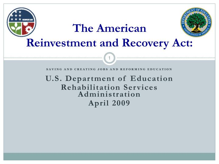 the american reinvestment and recovery act n.