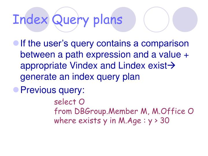 Index Query plans