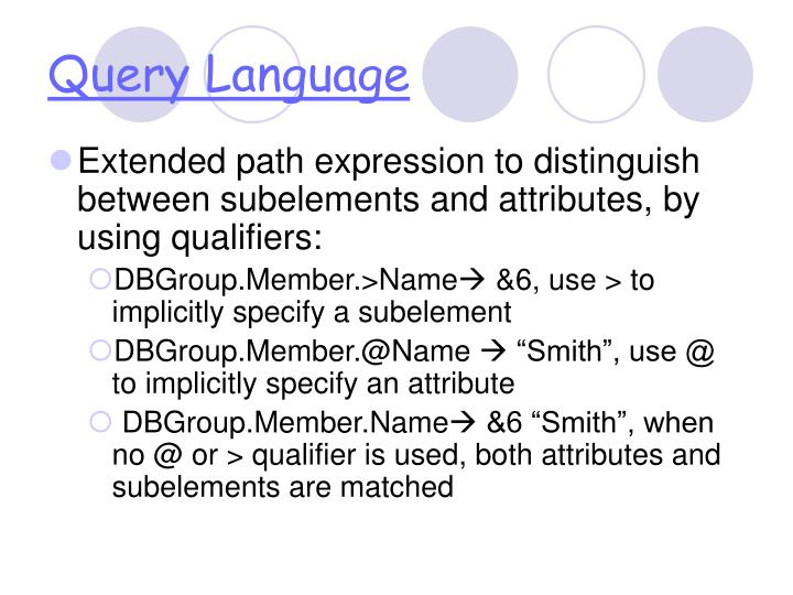 Query Language