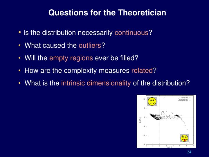 Questions for the Theoretician