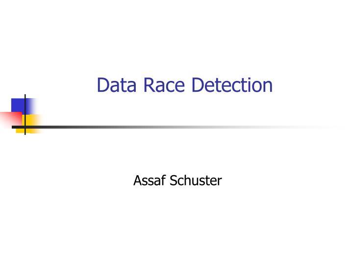 data race detection n.
