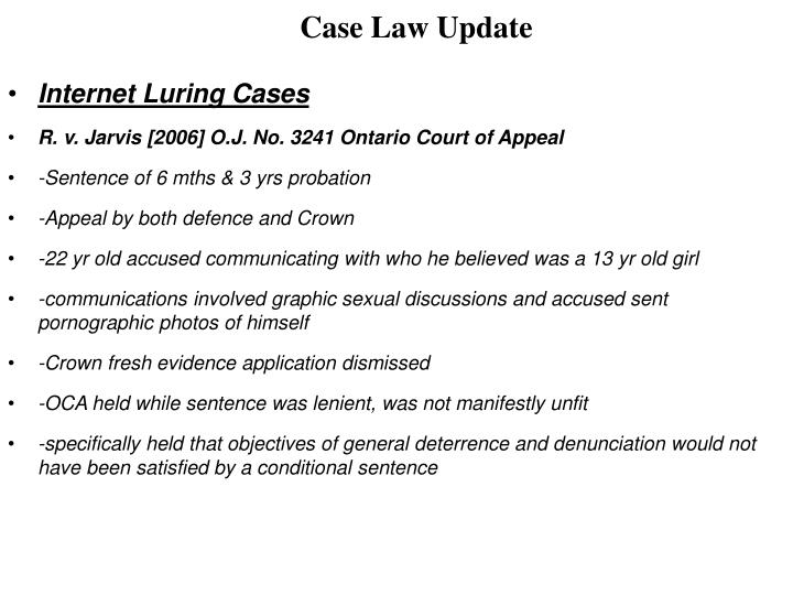 Case Law Update