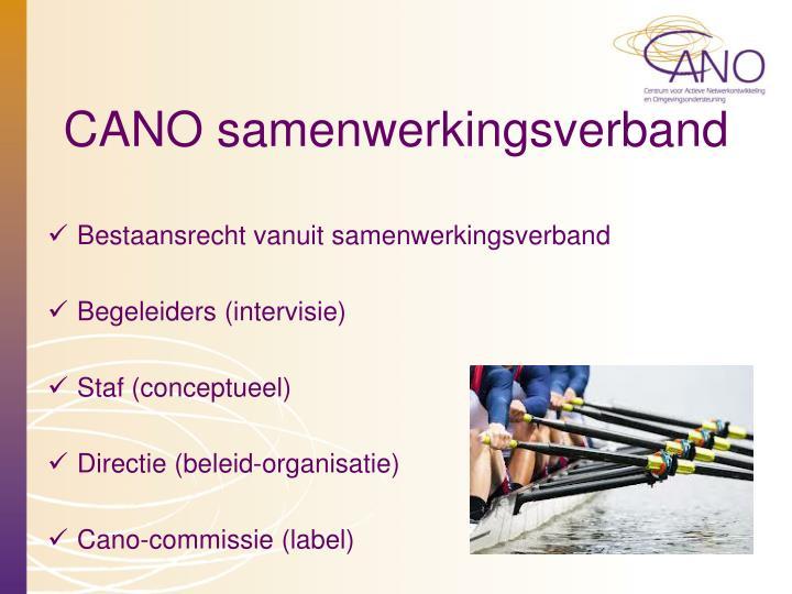 CANO samenwerkingsverband