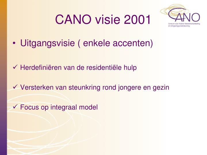 CANO visie 2001