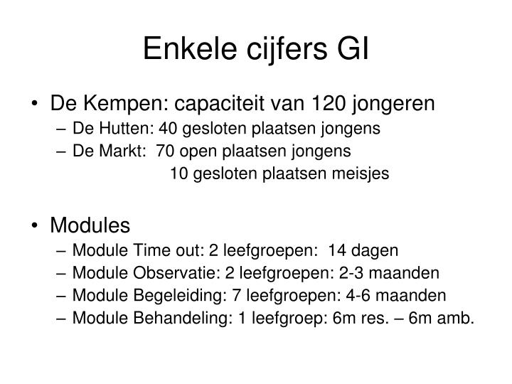 Enkele cijfers GI