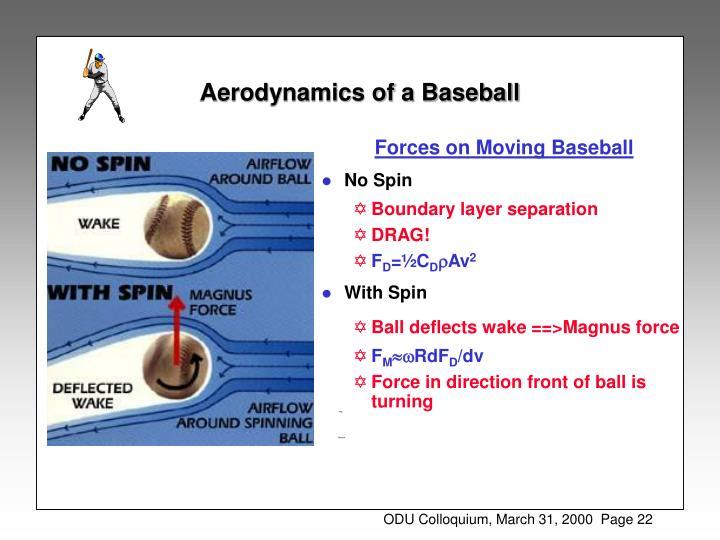 Aerodynamics of a Baseball